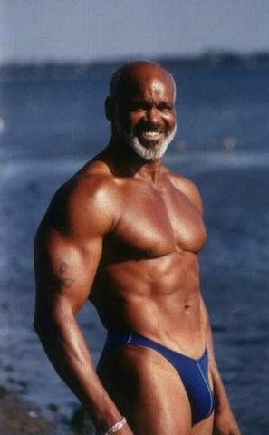 Mature gay black man