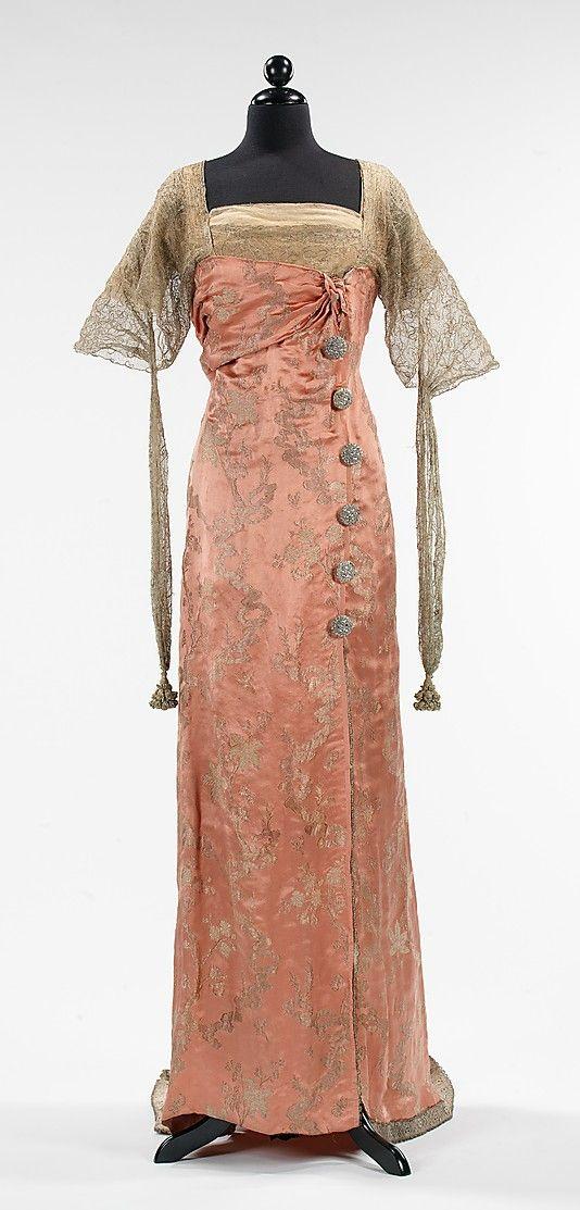 1914 silk Callot SoeursEvening Dresses, Costumes, Vintage Fashion, Gowns, The Dresses, 1914, Downton Abbey, Metropolitan Museums, Callot Soeurs