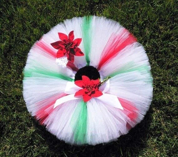 Christmas Tutu red white green tutu Christmas Candy by TutuTiara