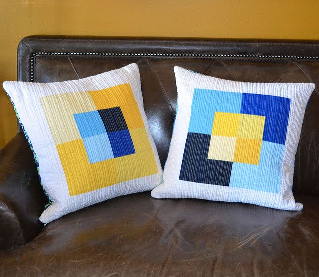 Canvas – pillows from my quilt pattern