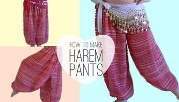 How to Make Belly Dancer Harem Pants