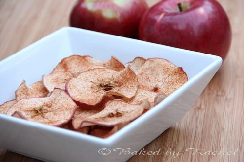 Cinnamon apple chips | Baked by Rachel