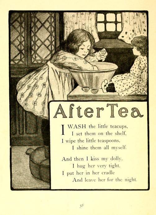 After Tea ~ Vintage Children's Poem