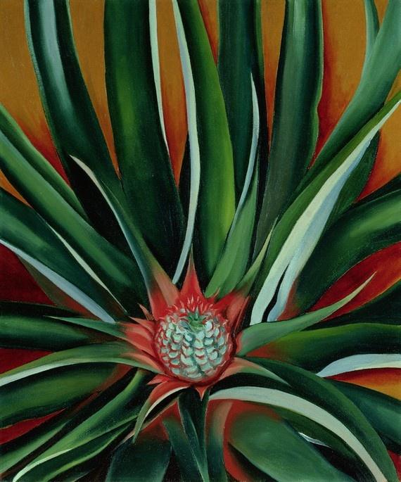 """Pineapple Bud"": Georgia O'Keeffe, 1939."