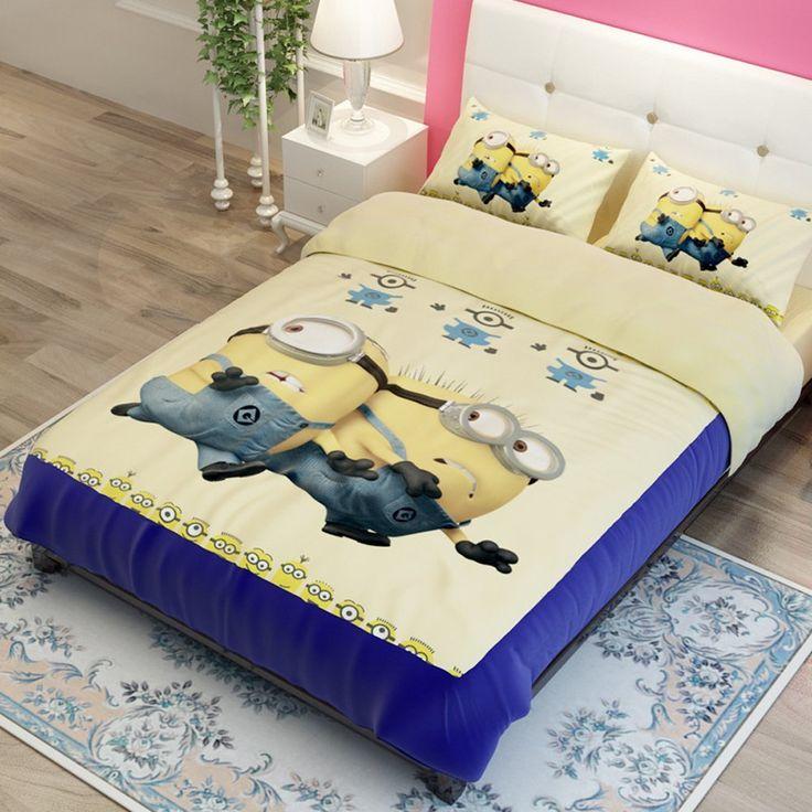 memorecool kids cartoon bedding setcute despicable me duvet cover setgifts for children