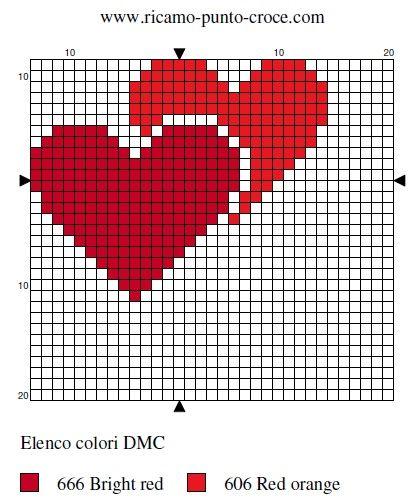 hearts hama bead pattern