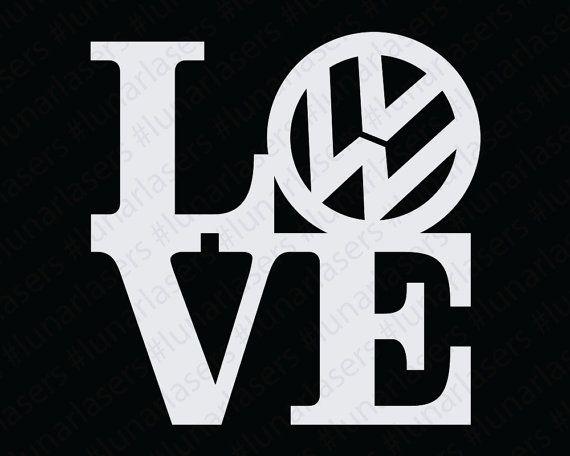 Volkswagen Love Window Decal by LunarLasersLTD