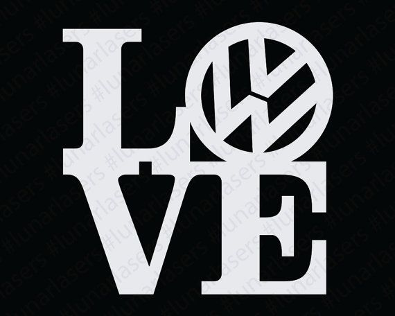 Volkswagen Love Window Decal by LunarLasersLTD
