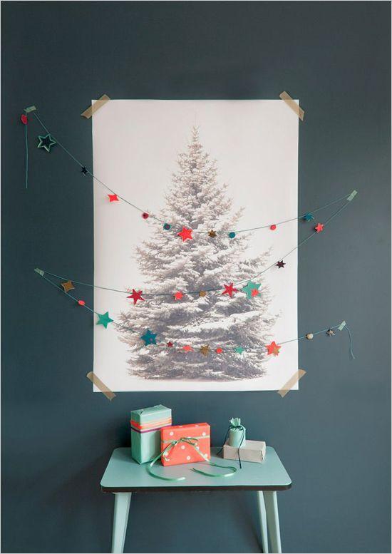 B&W Print as Alternative Christmas Tree