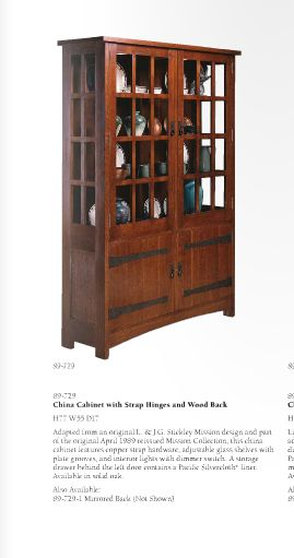 Oak Mission Classics China Cabinet With Paned Glass Doors By Stickley At Sprintz Furniture