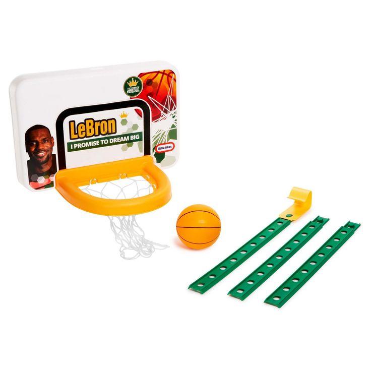 Little Tikes LeBron James Family Foundation Dream Big Attach 'n Play Basketball Set