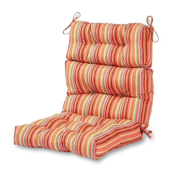 Colton Stripe 22 Inch X 44 Inch Outdoor High Back Chair Cushion By