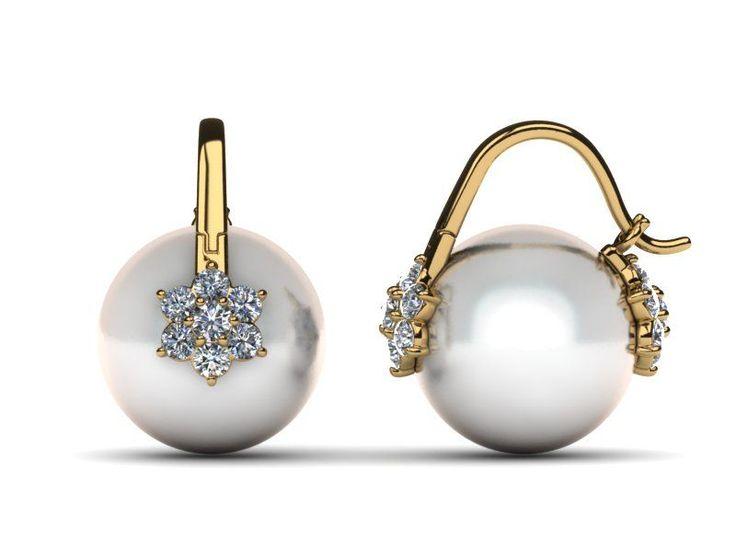 South Sea Arc De Triomphe Double Blossom Pearl Earring | ♦F&I♦