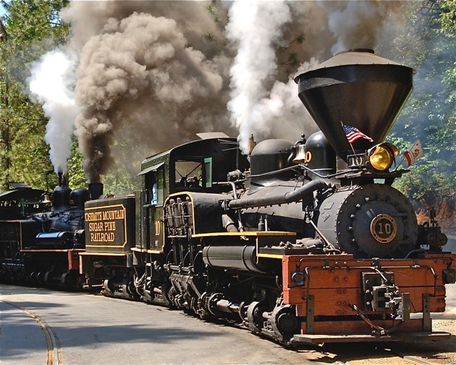 Yosemite Mountain Sugar Pine Railroad - good for steam train loving boys ;)