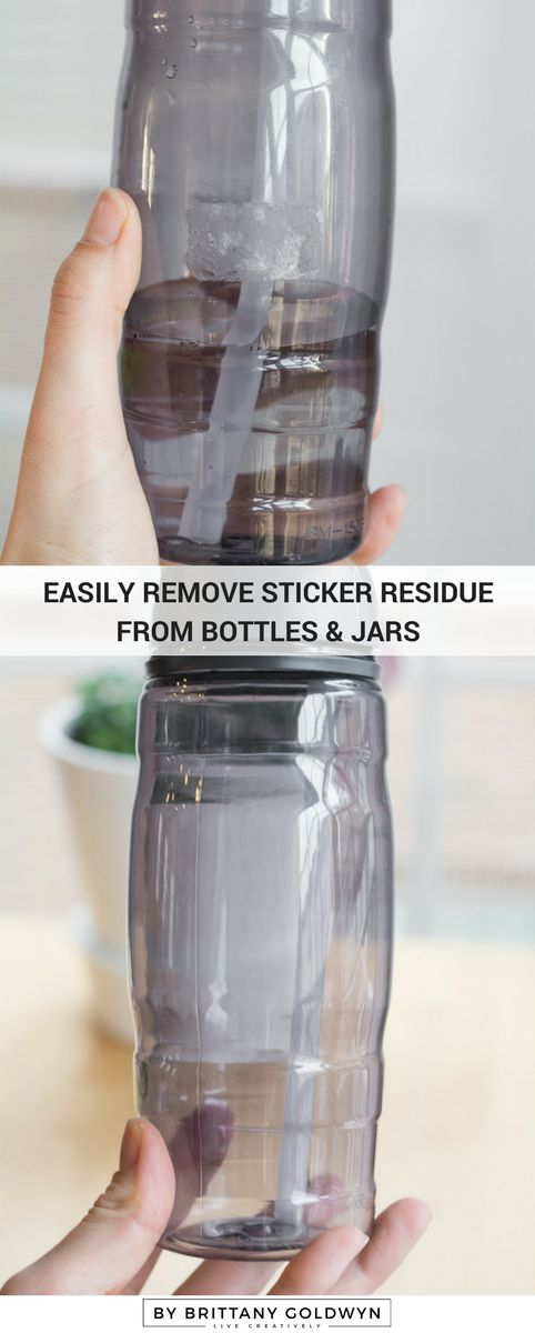 How to remove sticker residue from bottles and jars so you can re-use them for other things
