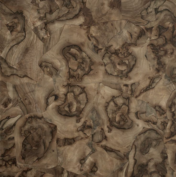"""Palladian composition - Walnut burl. The Élite Prestige #wood #panel can be supplied in its """"centered"""" (symmetric) version or """"palladian"""" (irregular but classical """"incertum opus""""). This makes the #parquet a unique work of #art. #madeinitaly #interior #design #home #classical #walnut #burl"""