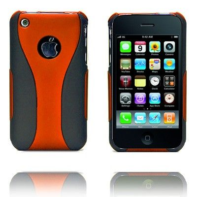Dual (Oransje) iPhone Deksel for 3G/3GS lux-case.no