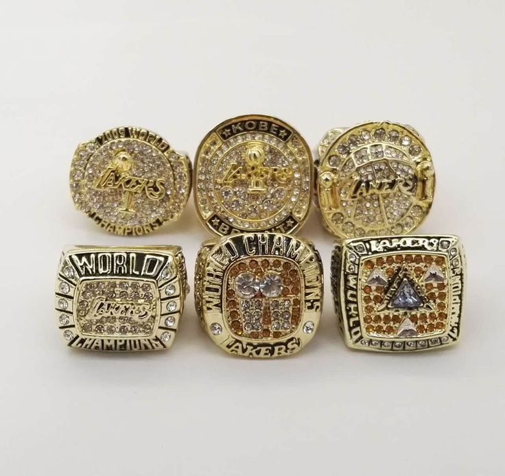 Full Set (6pcs) 2000 2001 2002 2009 2010 2016 Los Angeles Kobe Basketball Championship Rings