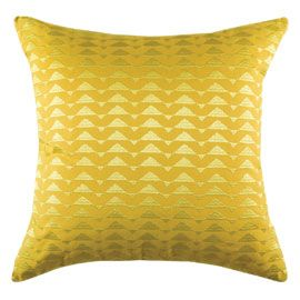 """KAS"" Kas Peak Cushion Yellow at Heal's"