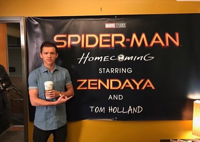 Haha his name is so small compared to Zendaya's. Love his face! I agree Tom, I agree. Your name should take up the whole thing.