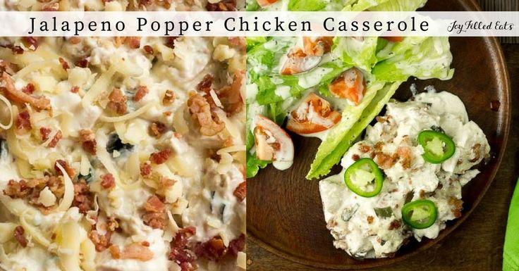 ... casseroles ever. Jalapeno Popper Chicken Casserole - Low Carb THM S