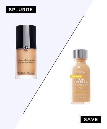 L'oreal True Match - a dupe for the high end Giorgio Armani Luminous Silk Foundation.  Full-Coverage Foundation That Feels Like a Naked Face
