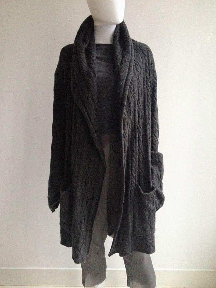 LGB grey draped oversized cardigan   V A N II T A S