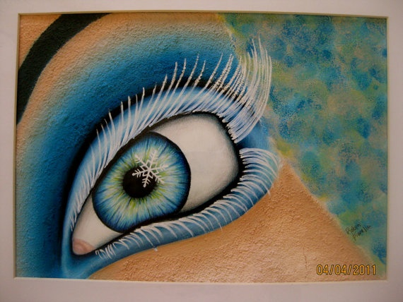 Snowflake eye painting