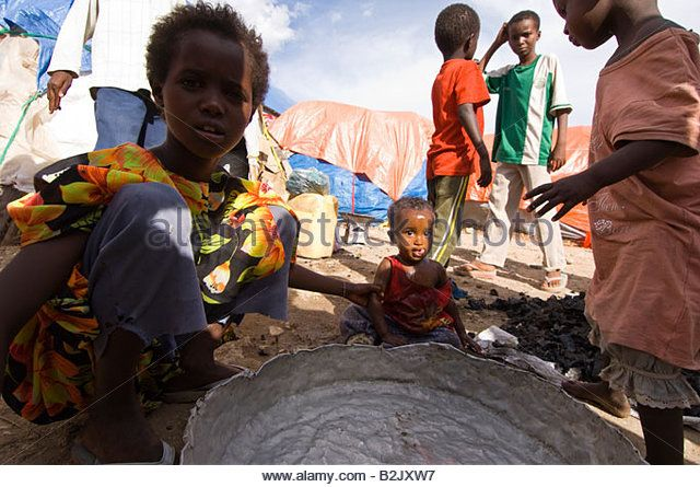 Somali refugees in Ethiopia. - Stock Image