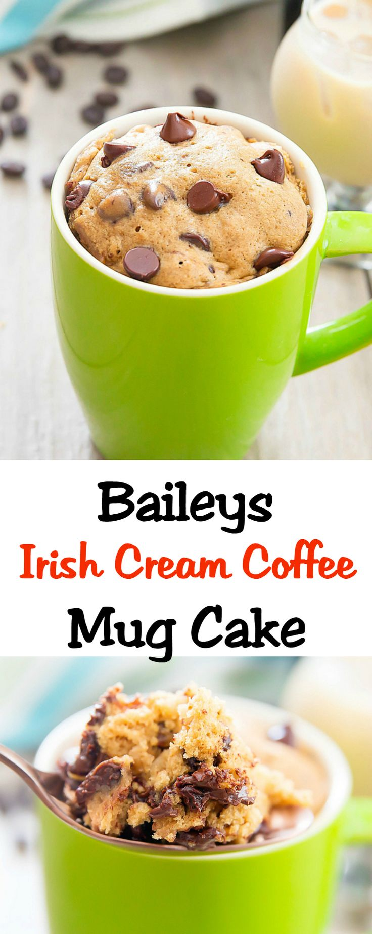 Baileys Irish Cream Coffee Mug Cake | Kirbie's Cravings | A San Diego food & travel blog