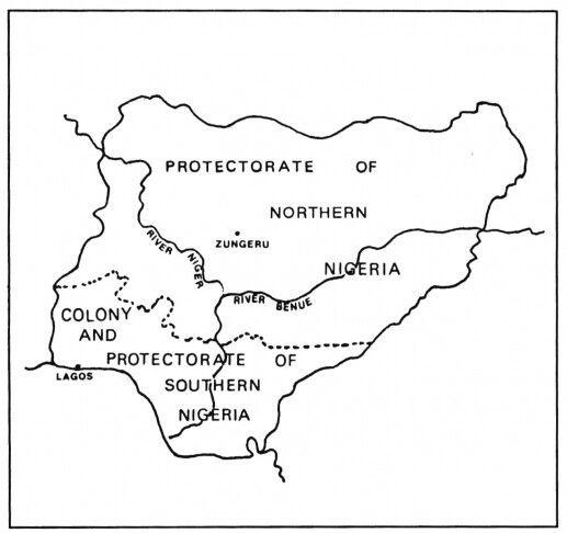 Map of Nigeria 1906 - 1914 | Source Y. Turaki, 1982