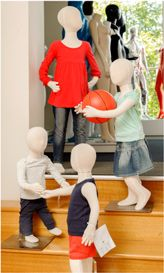 A sweet display of our flexible children mannequins #shopforshops #mannequins #flexiblemannequin #childrendisplay #fashion