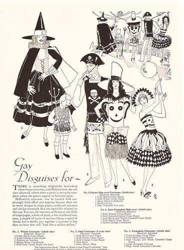 Vintage Halloween Costume Illustrations