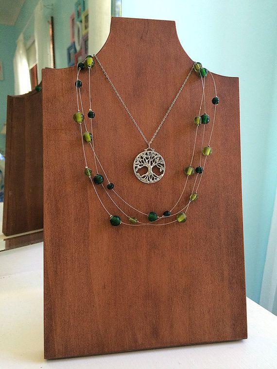 Wood Necklace Display Jewelery Bust Jewelry by RoarTimberworks