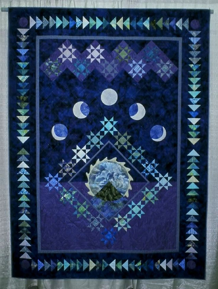 152 best astronomy quilts images on pinterest astronomy for Space quilt pattern
