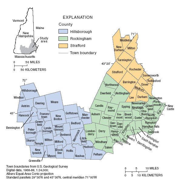 Southern NH Map - Southern New Hampshire Real Estate