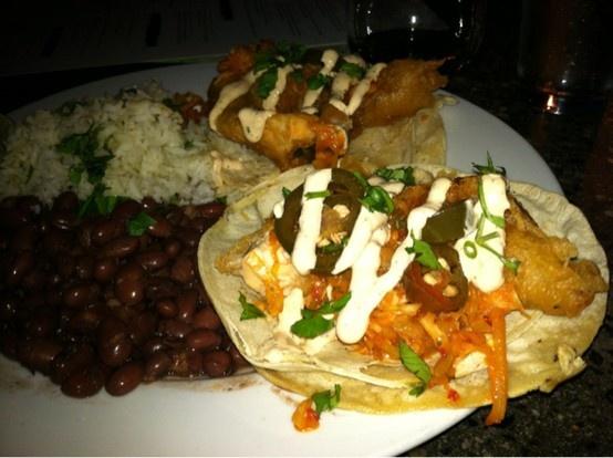 Catfish tacos at LAB