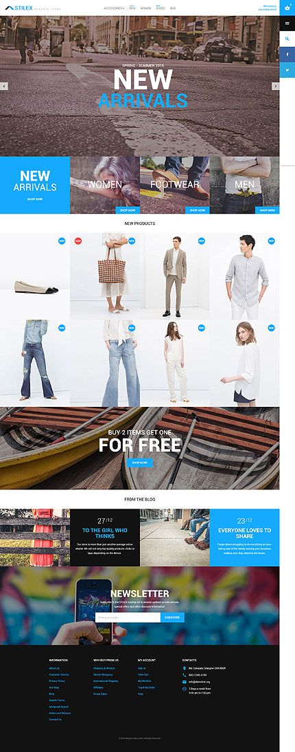 Footwear & Fashion Online Store #Magento #template. #themes #business #responsive #webshop #Magentothemes