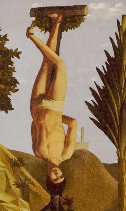 XII. The Hanged Man: The Golden Tarot
