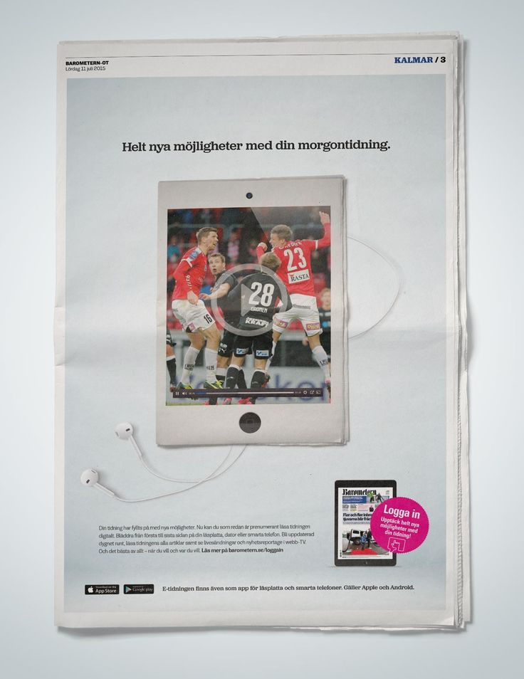 Ad for e-newspaper #barometern