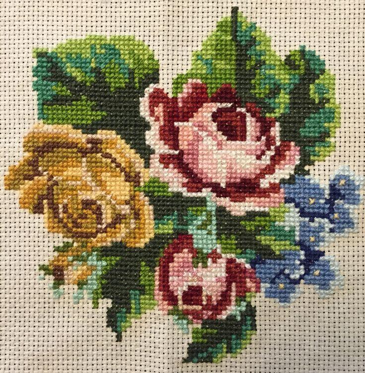 Roses  Cross stitching by Sabrina