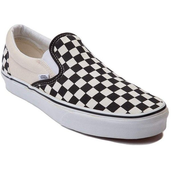 Vans Slip-On Chex Skate Shoe (£52) ❤ liked on Polyvore featuring shoes, sneakers, vans sneakers, slip-on shoes, slip-on sneakers, rubber slip on shoes and pull-on sneakers