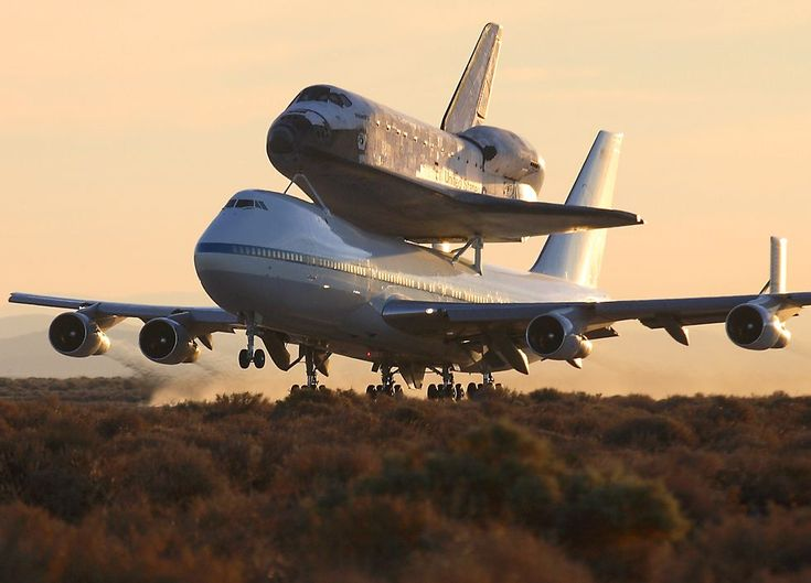 STS-117 departure from Edwards AFB