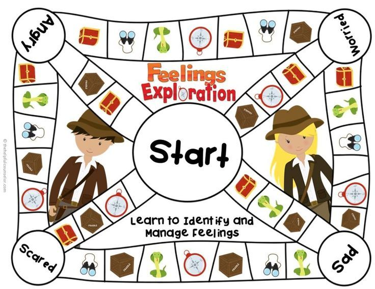 Feelings Game Board for Elementary School Counseling