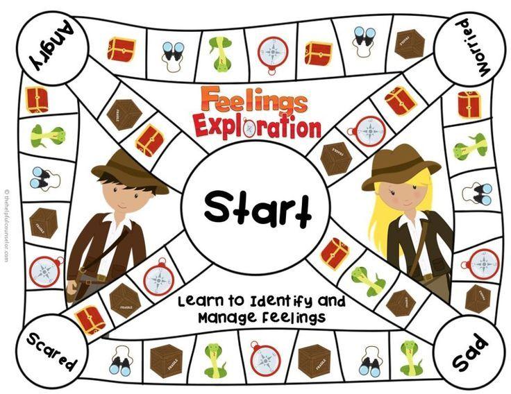 Feelings Game Board for Elementary School Counseling