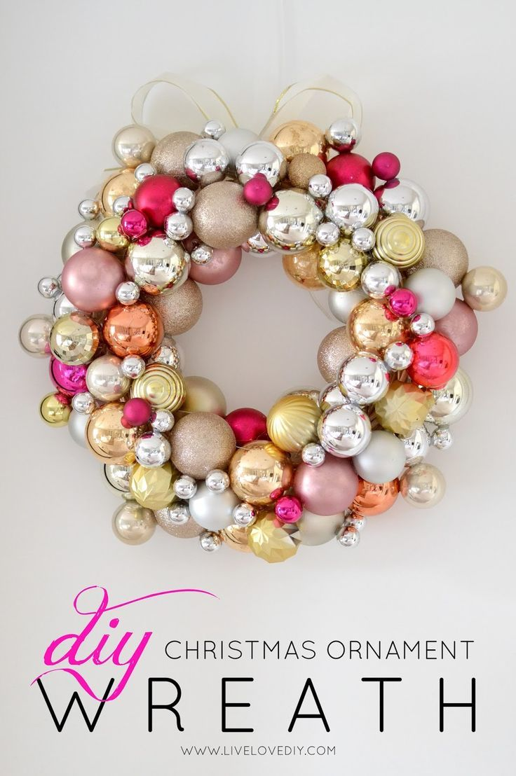 Uncategorized christmas decorations amp holiday decorations - How To Make A Christmas Ornament Wreath For Less Than 10