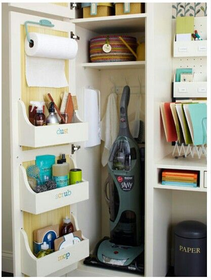 Utility closet in laundry room
