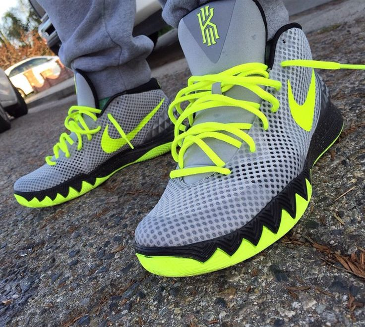in a mean Nike Kyrie 1 iD.