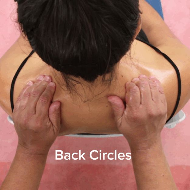 Then move on to these back circles that'll make your partner feel oh-so-good! | Here's How To Finally Give Your Partner A Good Massage