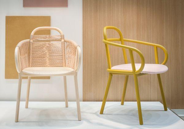 La seduta Zantilam firmata da Patricia Urquiolaper Very Wood, nuovo brand del Gruppo Gervasoni specializzato nel contract. Realizzata in legno curvato essenze di faggio e frassino è disponibile anche con corda intrecciata.